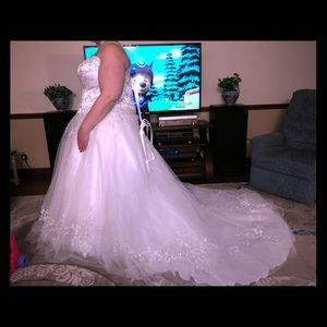 Dresses & Skirts - Beautiful Plus Size Wedding Gown (sz 18)